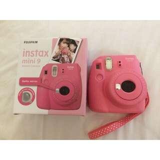 Polaroid fujifilm instax mini 9 pink