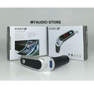 CARS7 BLUETOOTH / FM TRANSMITTER / USB CAR CHARGER