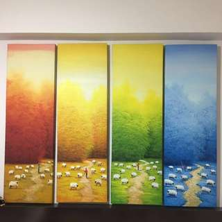 Oil Paintings - 4 seasons