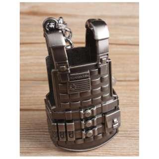 絕地周邊金屬三級甲遊戲道具鑰匙扣挂件 pubg