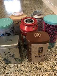 Miscellaneous tins
