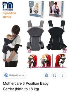 Mothercare 3- position carrier