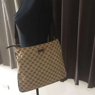 💯 AUTHENTIC GUCCI MESSNGER CROSSBODY SLING BAG