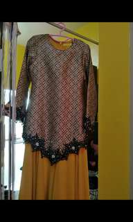 Gold Songket Long Dress