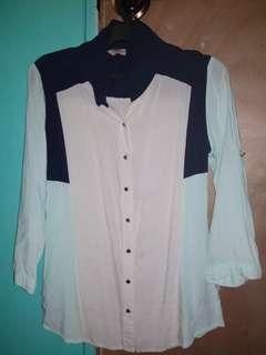 crissa polo blouse