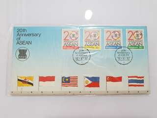 20th anniversary of ASEAN 1987 first day cover