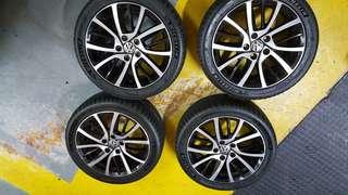 """Volkswagen 17"""" original alloy rims"""
