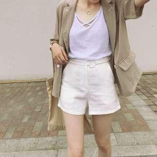 A字亞麻短褲