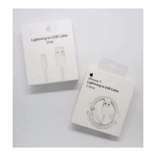 Apple lightning cable and apple wall charger 5w! Order now :)