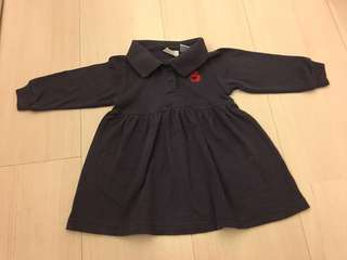 Long sleeves Polo Dress (size: 12 months)