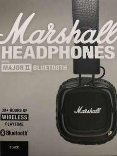 Marshall Major II Bluetooth On-Ear Headphone - Black