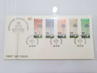 Changi Airport first day cover 1981