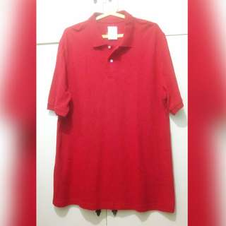 MA169 Faded Glory Red Polo Shirt (Large but Lools XL) - Mint