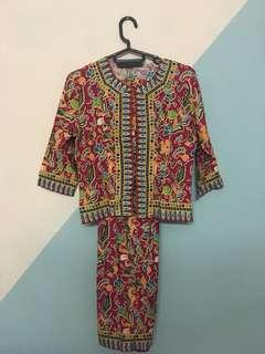 Two Piece Batik Dress
