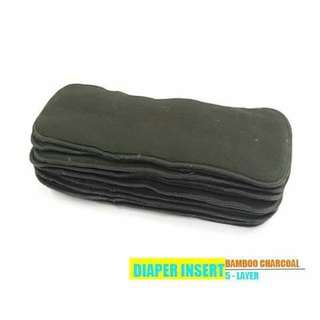 5-Layer Bamboo Charcoal Cloth Diaper Insert
