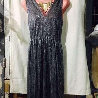 Long glittery gown