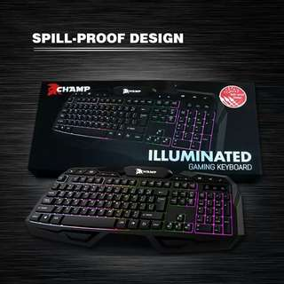 Champ gaming keyboard sale at 380 ORIGINAL AND SEALED (Spill Proof)