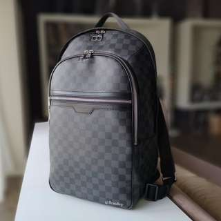 Authentic Louis Vuitton Damier Graphite Michael Backpack LV