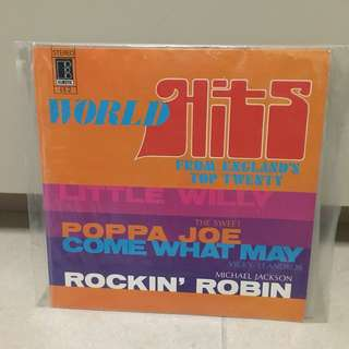 Michael Jackson Vicky Leandros The Sweet - world hits from England's Top 20 vintage vinyl record
