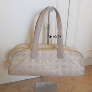 """AUTHENTIC CHANEL CANVAS """"TRAVEL-LINE""""  TOTE BAG"""