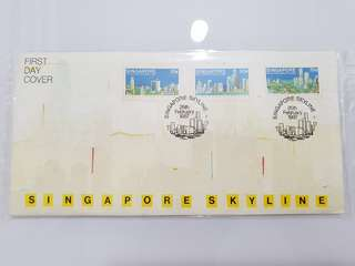 1987 Singapore skyline first day cover