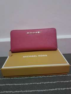 Authentic Micheal Kors Wallet in Tulip