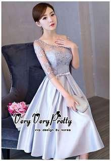 Luxurious Silver Embroidered Fashion Korea