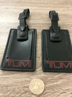 Tumi luggage tags (both new & used)