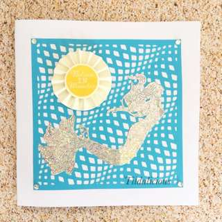 Handmade 'Mermaid' Believe in Miracles Card