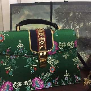 Gucci Sylvie Green Floral
