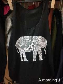 🚚 大象黑色背心