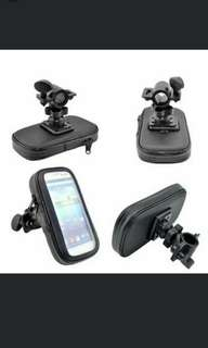 Motorcycle Bike Bicycle Front Bag Case Mount Holder for GPS Mobile Phone 5.5in Waterproof L (Black)