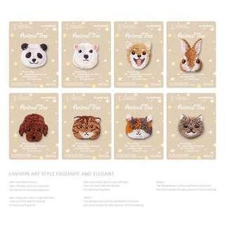 可愛刺繡動物燙布貼