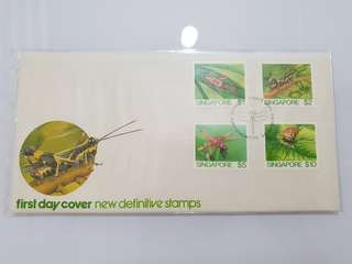 1985 new definitive stamps high value insects fdc Singapore