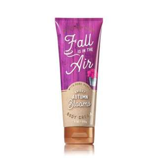 Bath & Body Works Fall is in the Air with Pure Honey Bright Autumn Blooms Body Cream 226g