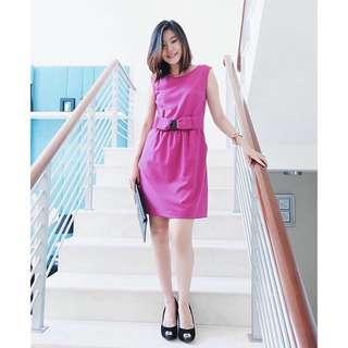 Valentino Ribbon Purple Dress