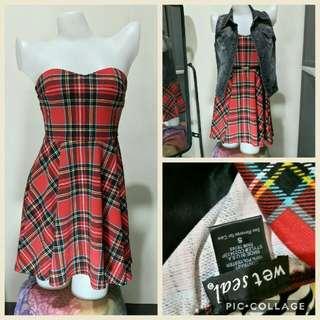 Wet seal checkered tube dress