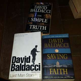 David Baldacci Books Bundle (3 pcs)