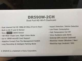 Car dashcam- back and front