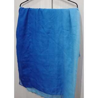 Blue Ombre Wide Shawl #JulyPayDay