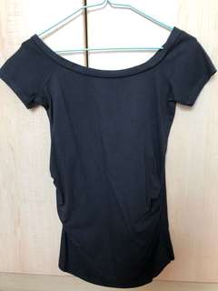 New look maternity boat-neck tee UK 8