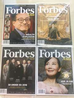 BN Forbes Asia (4 issues from Jan-May 2018)