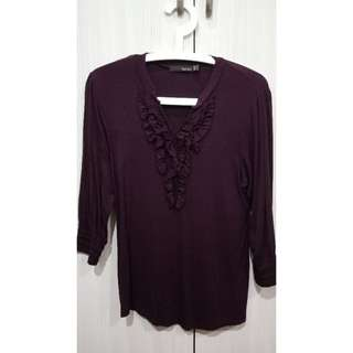 Maroon Work Top Blouse #JulyPayDay