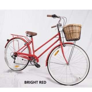 6-Speed-Vintage-Ladies +Helmet+lock+basket+lights