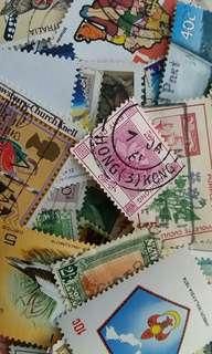 1911 - 1992年海外英屬及英聯邦地區郵票共100枚 (足數量)