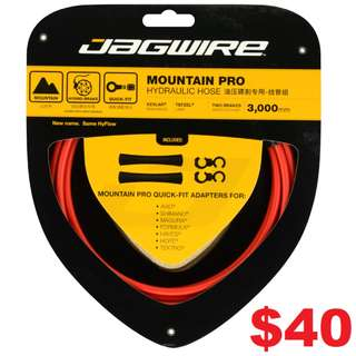 Jagwire Mountain Pro Disc Brake Hydraulic Hose 3000mm Red Colour-------- (XTR M9020 XT M8020 M8000 M785 SLX M7000 M675 M315 MT2 MT4 MT5 MT5E MT6 MT7 MT8 Trail) Dyu