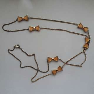 F21 Bow Necklace