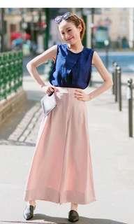 [二手]我的巴黎小衣櫥 #想要想要 歐洲品牌深藍色紗質特殊設計上衣