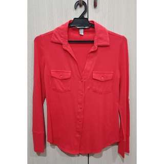 Forever 21 Coral Jersey Shirt #JulyPayDay
