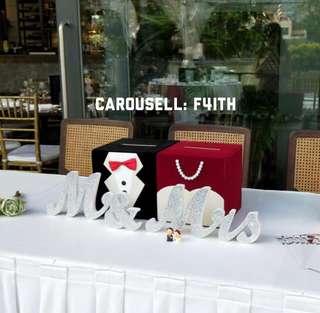 (RENTAL) bride & groom angbao box